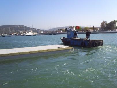 kazıklı ve yüzer iskele yapımı